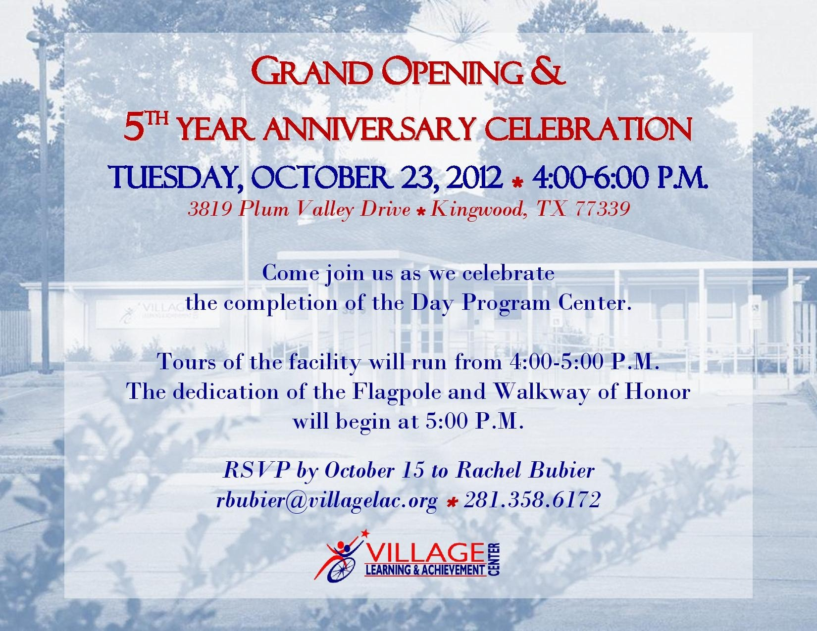you u2019re invited to the grand opening  u0026 5th year anniversary